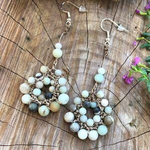 🌷Handmade Amazonite Boho Earrings!